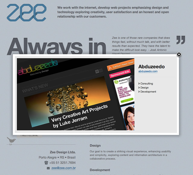 Web Design Process: Zee Site