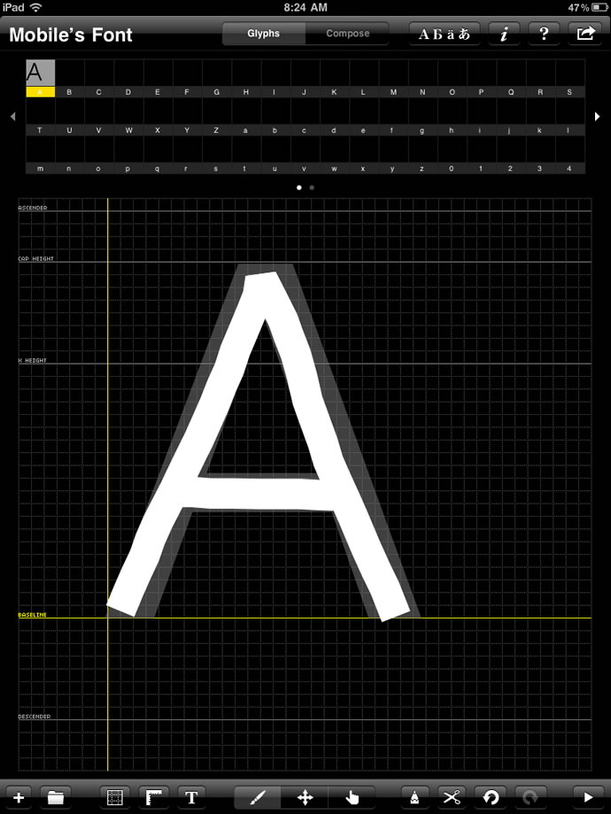 Creating an Handwriting Font with iFontMaker
