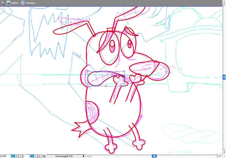 Coraje, el perro cobarde. ¡Adobe Ilustrator!
