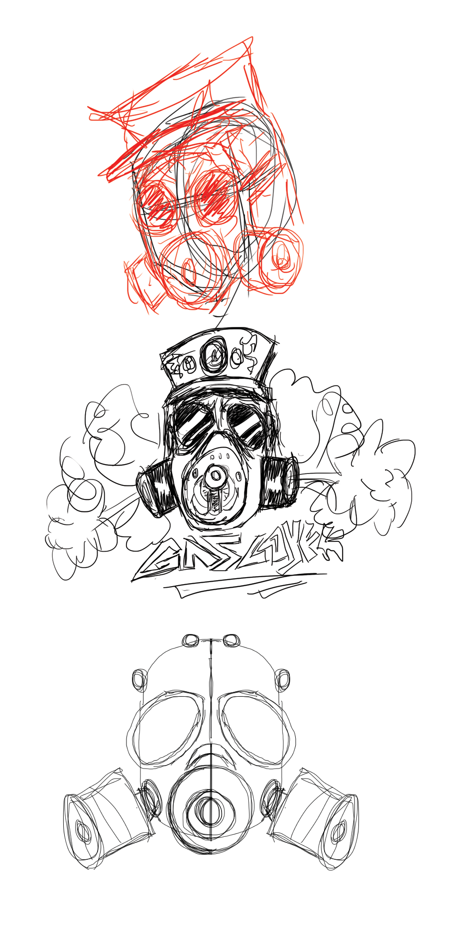 gas mask drawing tutorial - photo #3