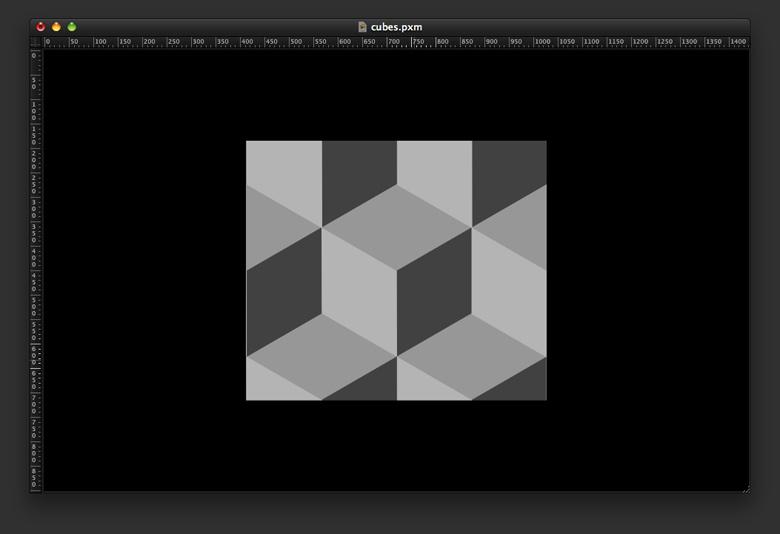 Cubes Mosaic in Pixelmator