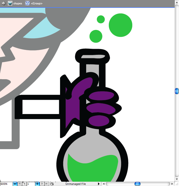 Mario y Dexter en ilustrator