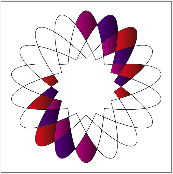 Geometric Flower Effect Logo in Illustrator