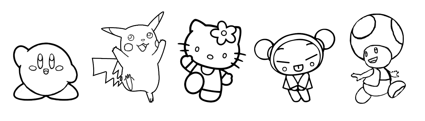 as you can see bellow these are characters really easy to draw made with simple trace not using any hashing or penbrush marks most of them have a - Simple Pictures To Trace