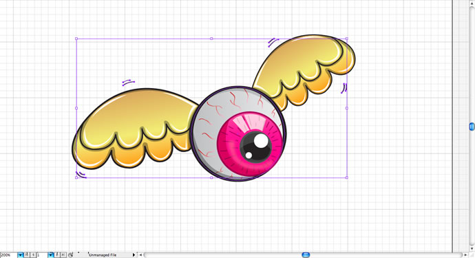 Cool Flying Eye Illustration in Illustrator CS5