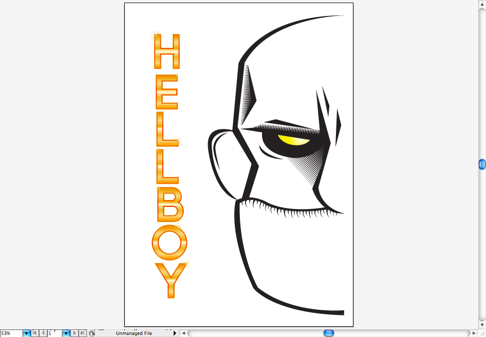 Create a Hellboy Poster in Illustrator