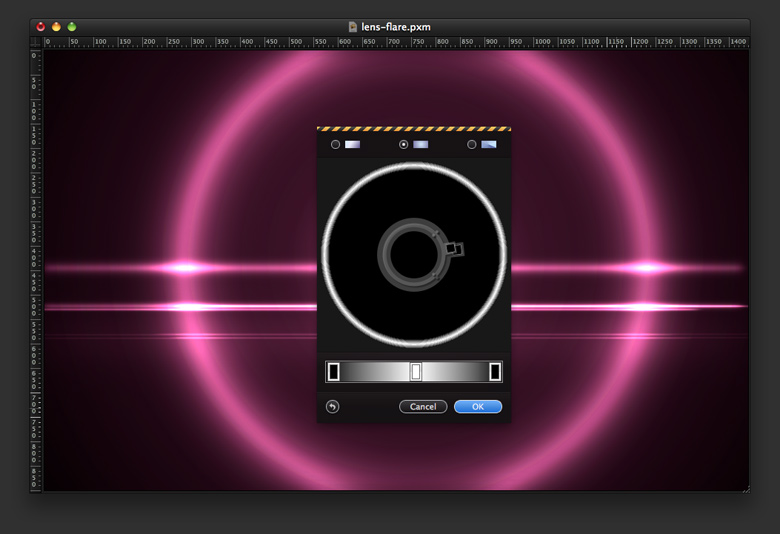 Lens Flare Revisited in Pixelmator