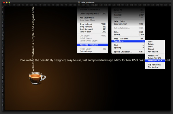 Magic Cup Coffee in Pixelmator