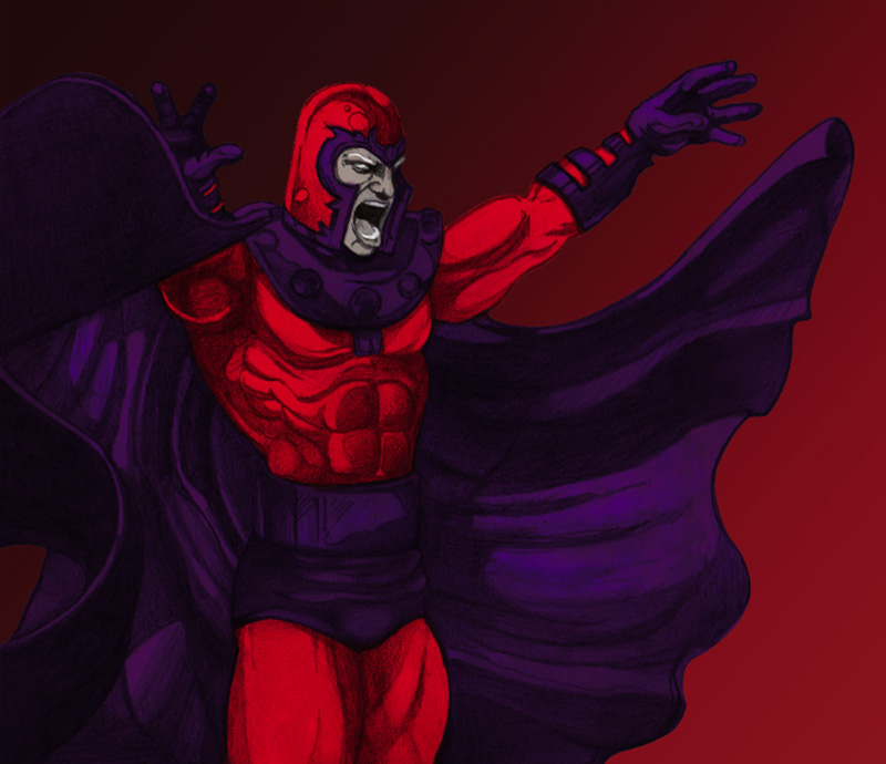 Awesome Magneto Digital Painting Case Study by Eric Vasquez