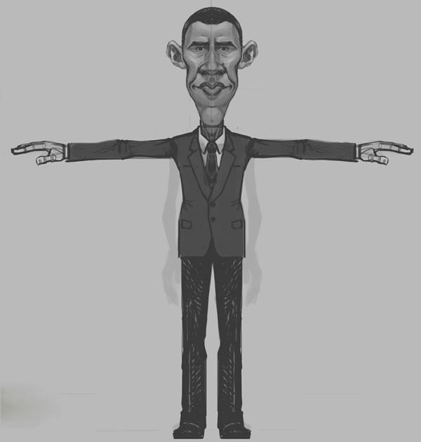Amazing Obama 3D