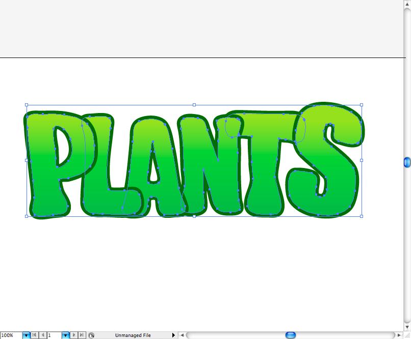 Create Plants Vs. Zombie Type in Illustrator