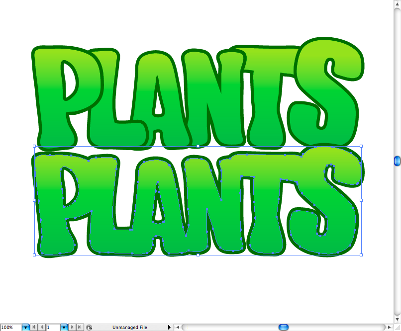 Cartel Plants vs Zombies en Illustrator