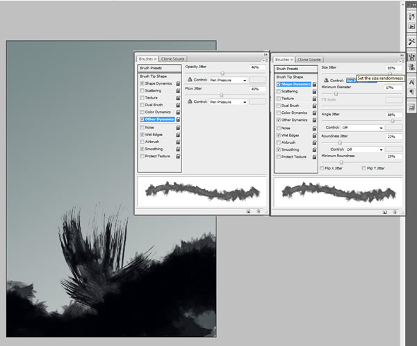Reader Tutorial: Mixing Brushes and Layers in Photoshop by Josh Overton