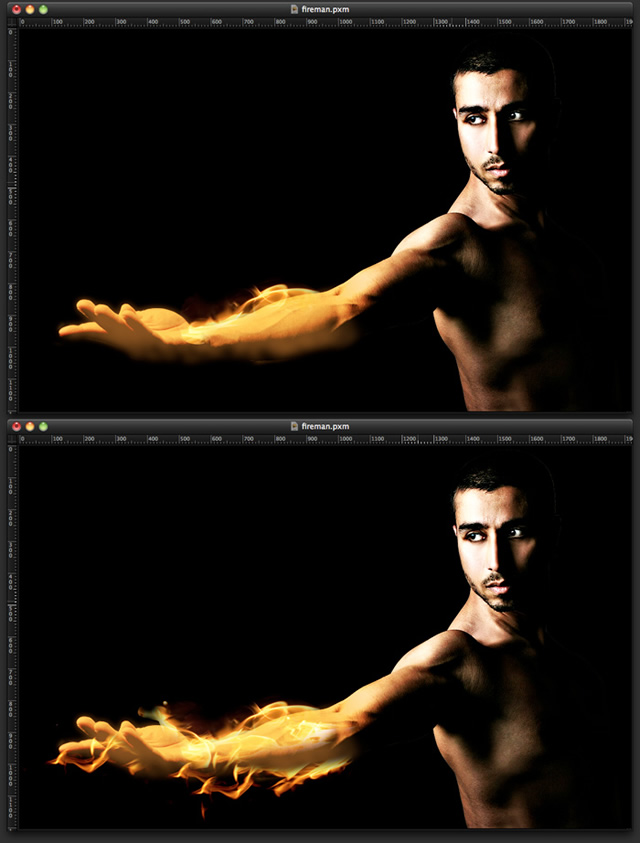 Torch Man in Pixelmator