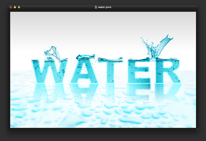 Water Text in Pixelmator