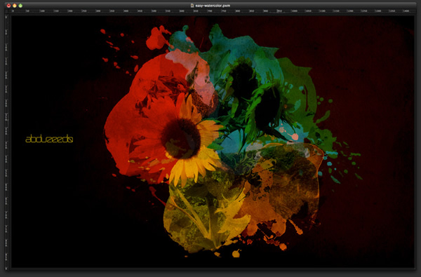 Playing with Watercolor Brushes and Masks in Pixelmator