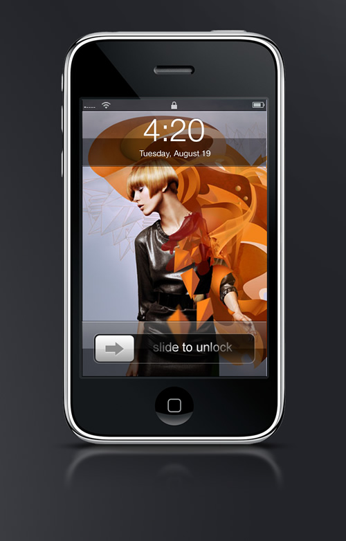 Abduzeedo's iPhone wallpaper of the week by Christopher Raymond