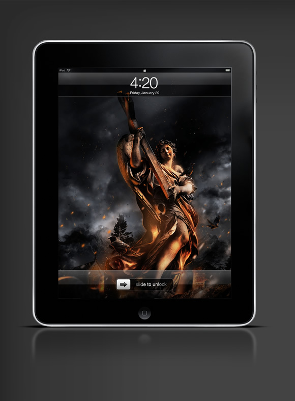 Abduzeedo's iPad wallpaper of the week by Andy Burdin