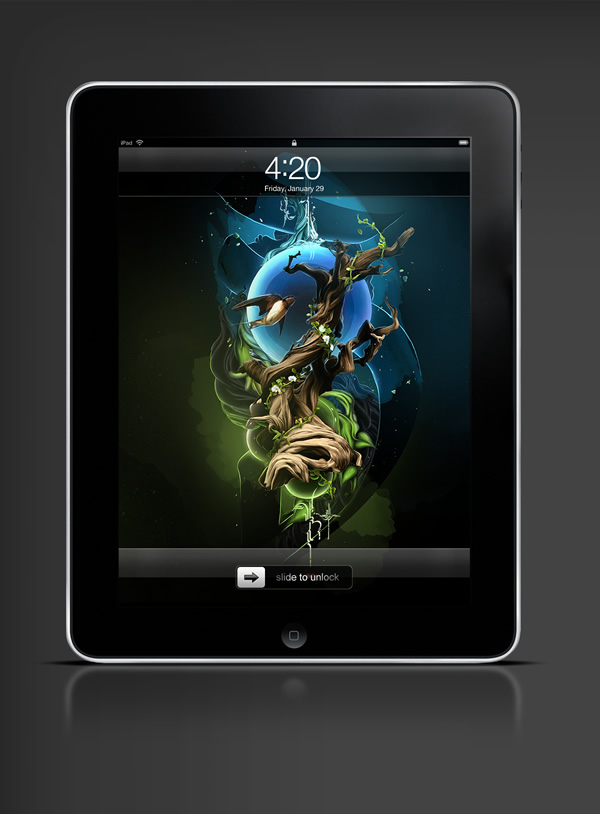 Abduzeedo's iPad wallpaper of the week by Theo Aartsma
