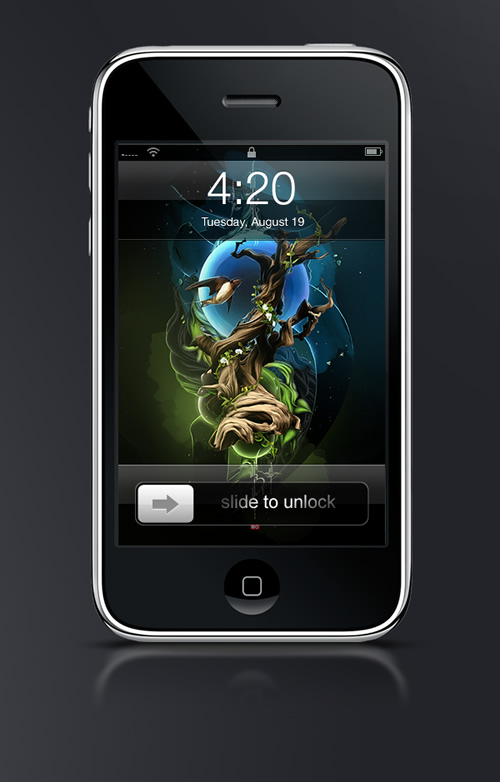 Abduzeedo's iPhone wallpaper of the week by Theo Aartsma