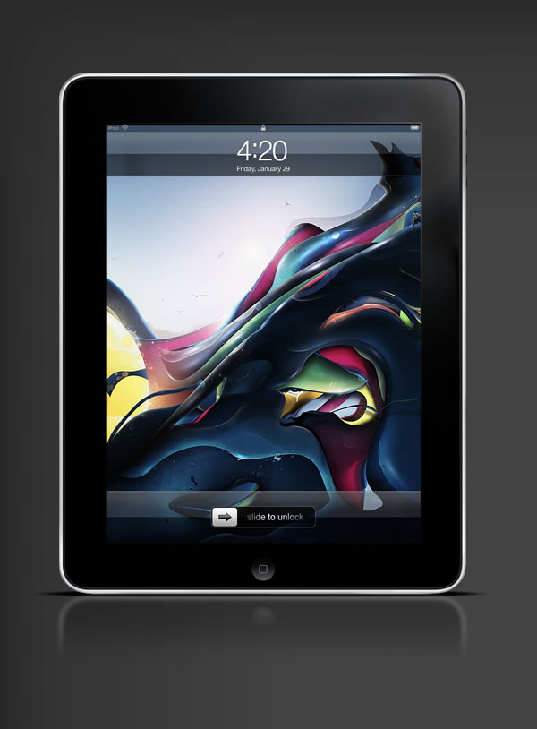Abduzeedo's iPad wallpaper of the week by Rik Oostenbrook
