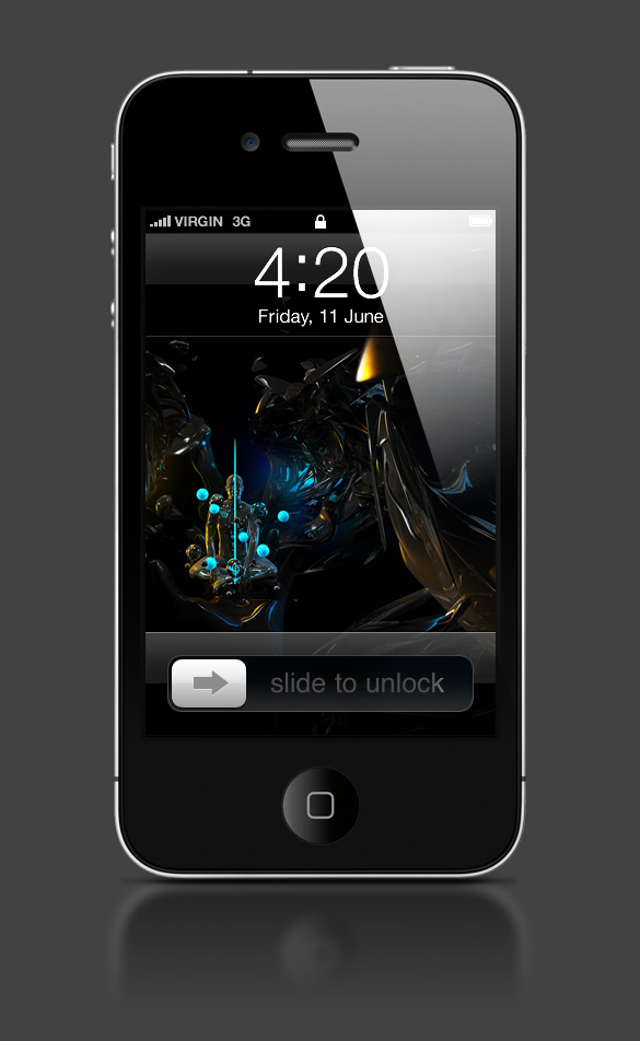 Abduzeedo's iPhone wallpaper of the week by Jacob Bian
