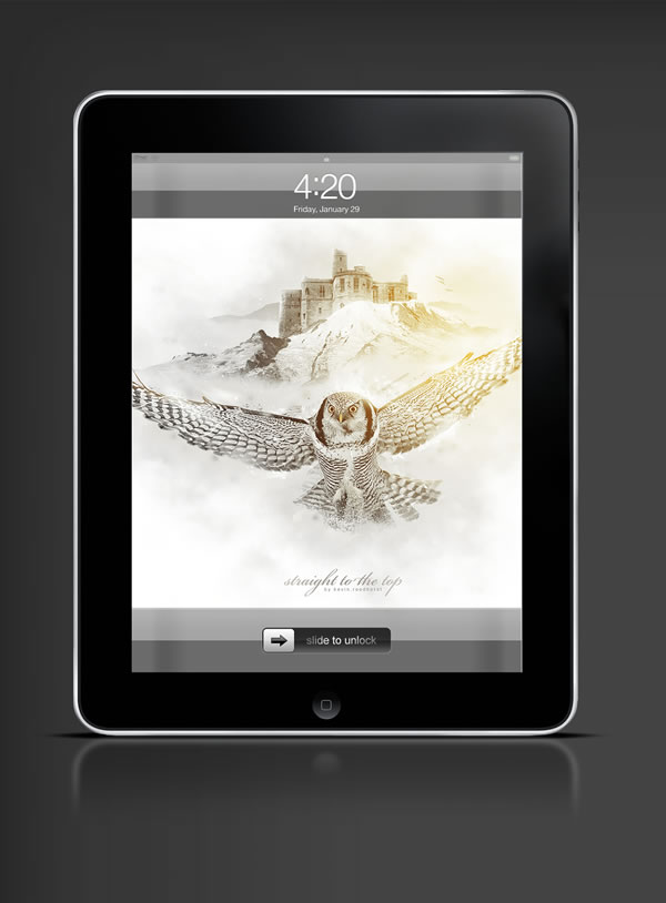 Abduzeedo's iPad wallpaper of the week by Kevin Roodhorst