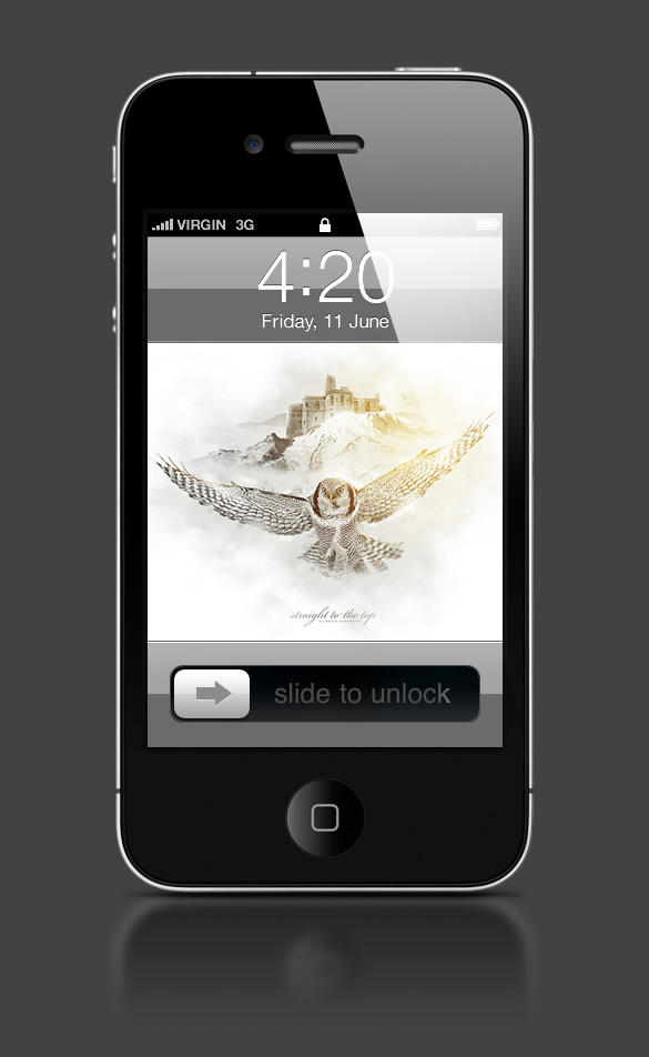 Abduzeedo's iPhone wallpaper of the week by Kevin Roodhorst
