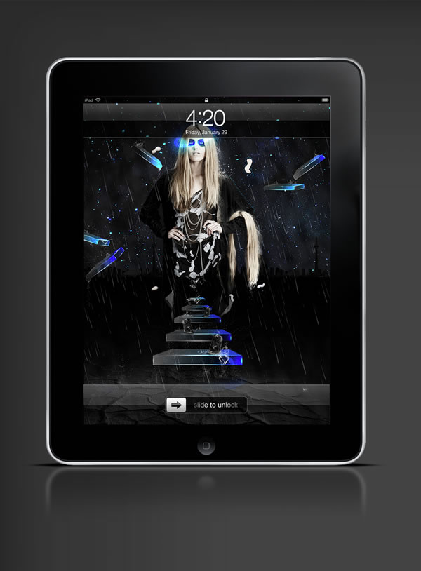 Abduzeedo's iPad wallpaper of the week by  Khyzyl Saleem