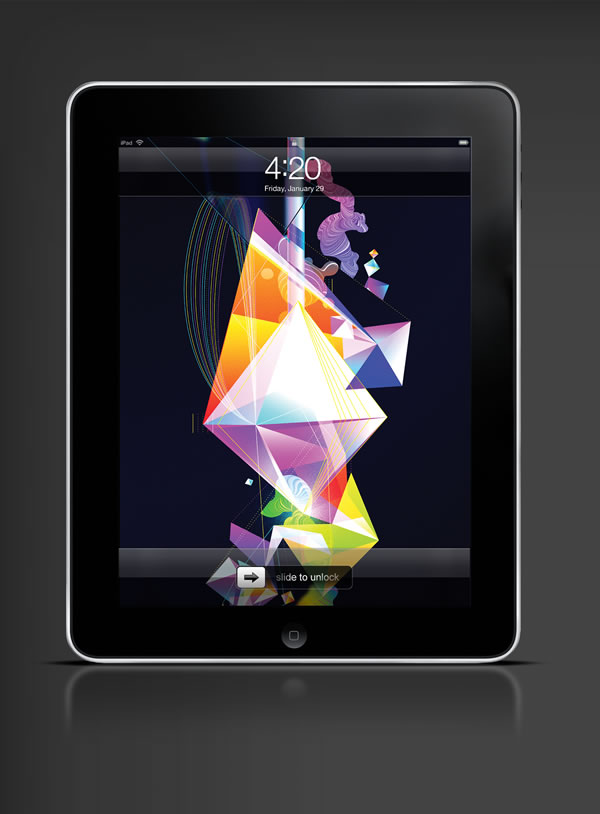 Abduzeedo's iPad wallpaper of the week by  Oit8doi2