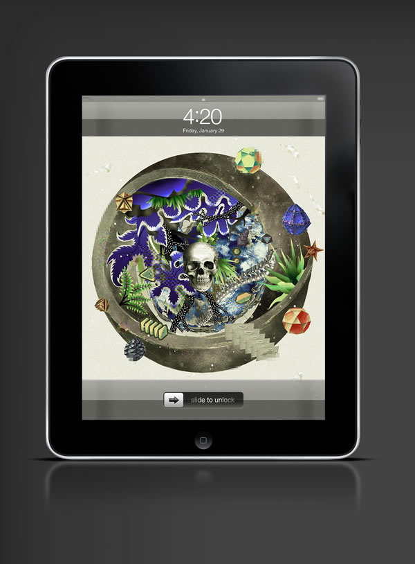 Abduzeedo's iPad wallpaper of the week by  Ee Venn Soh