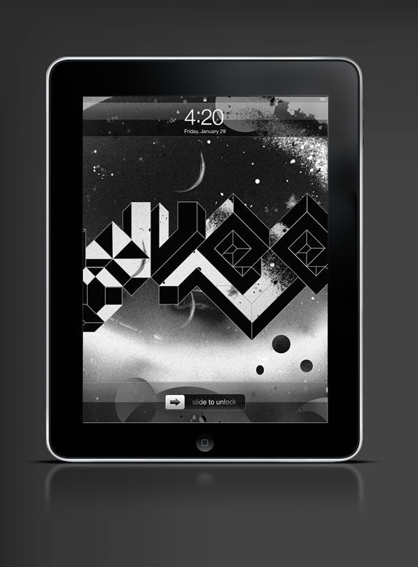 Abduzeedo's iPad wallpaper of the week by  Mago