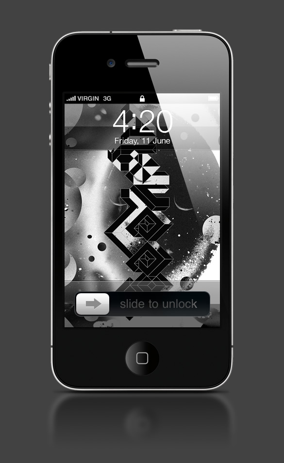 Abduzeedo's iPhone wallpaper of the week by Mago