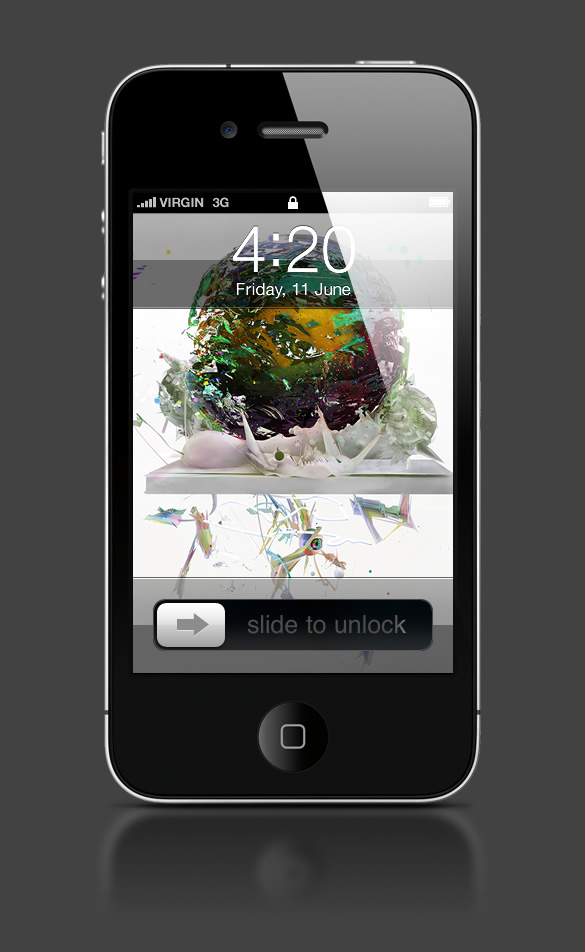 Abduzeedo's iPhone wallpaper of the week by Saad Moosajee and Chris Haines