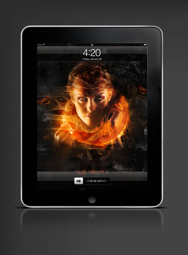 Abduzeedo's iPad wallpaper of the week by  Monk Design