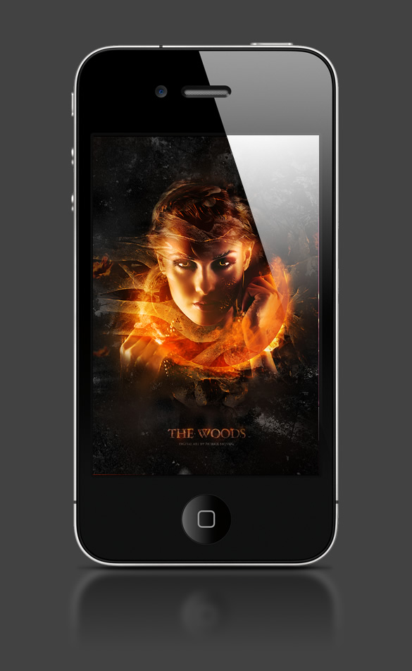 Abduzeedo's iPhone wallpaper of the week by Monk Design