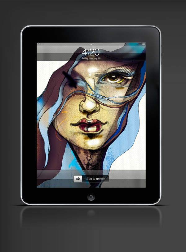 Abduzeedo's iPad wallpaper of the week by  ZSO