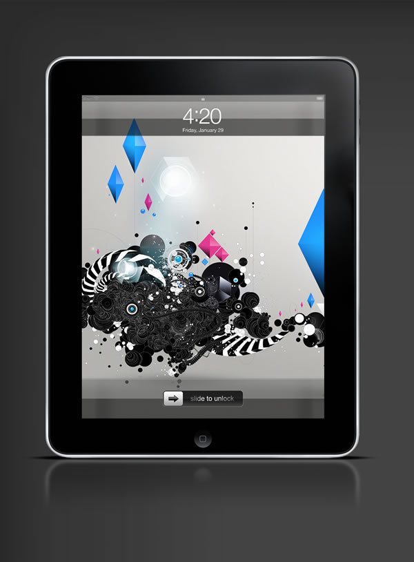 Abduzeedo's iPad wallpaper of the week by  David Masch