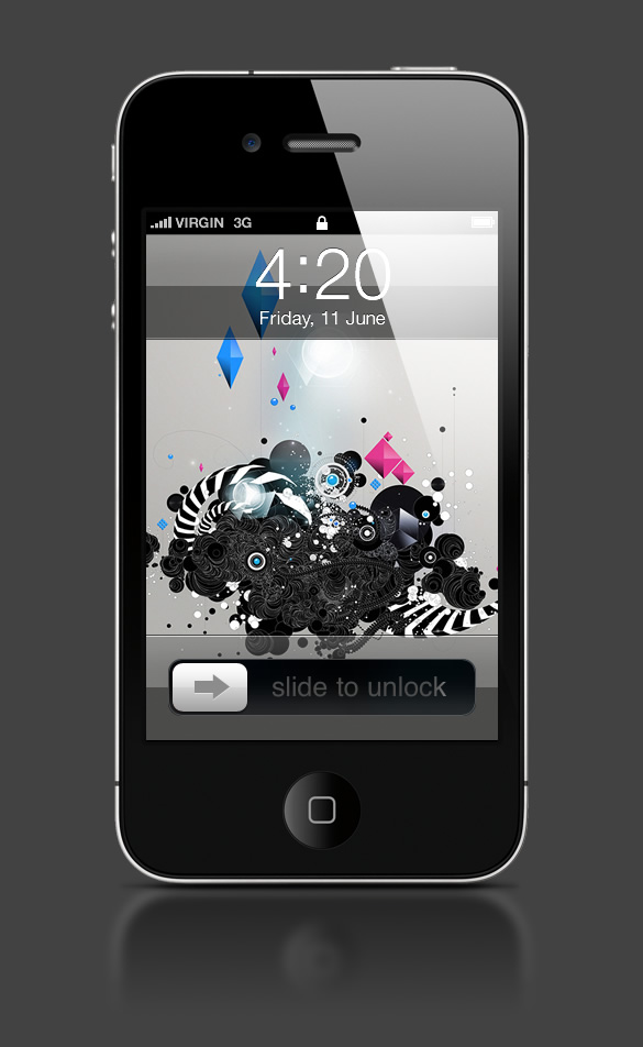 Abduzeedo's iPhone wallpaper of the week by David Masch