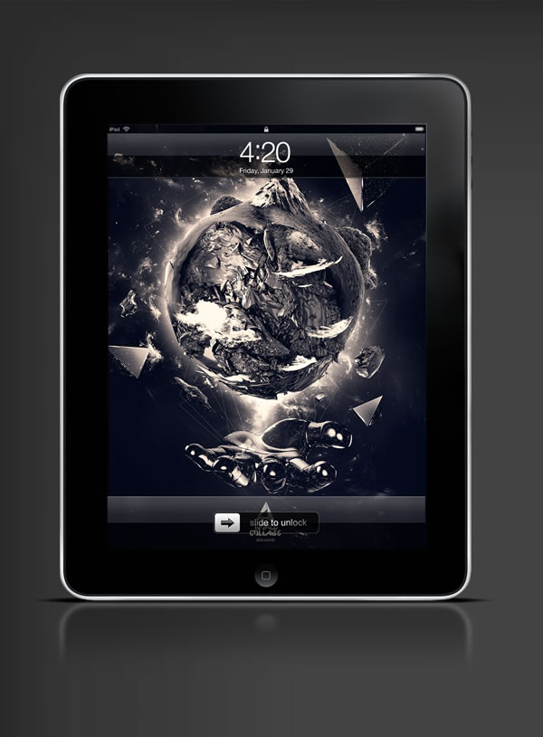 Abduzeedo's iPad wallpaper of the week by François Leroy