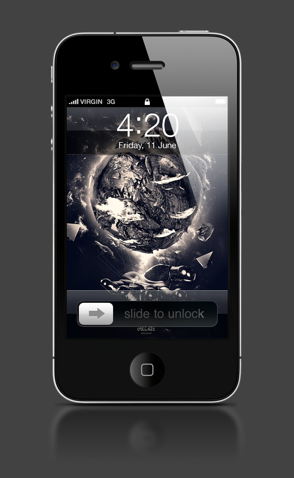 Abduzeedo's iPhone wallpaper of the week by François Leroy