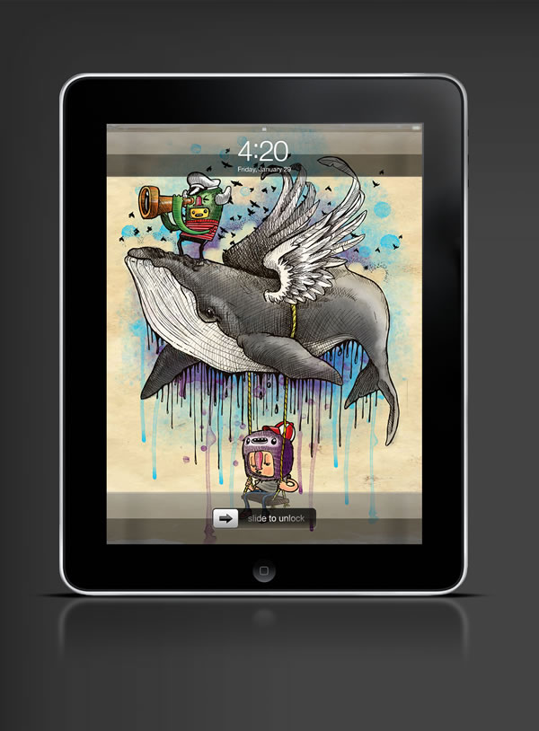 Abduzeedo's iPad wallpaper of the week by  23Alan