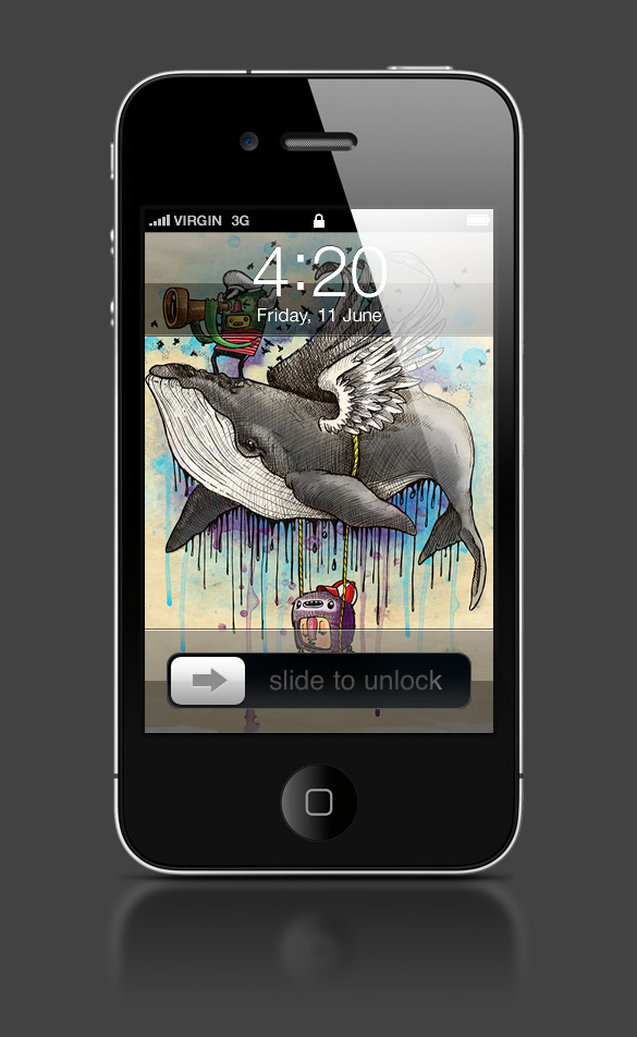 Abduzeedo's iPhone wallpaper of the week by 23Alan