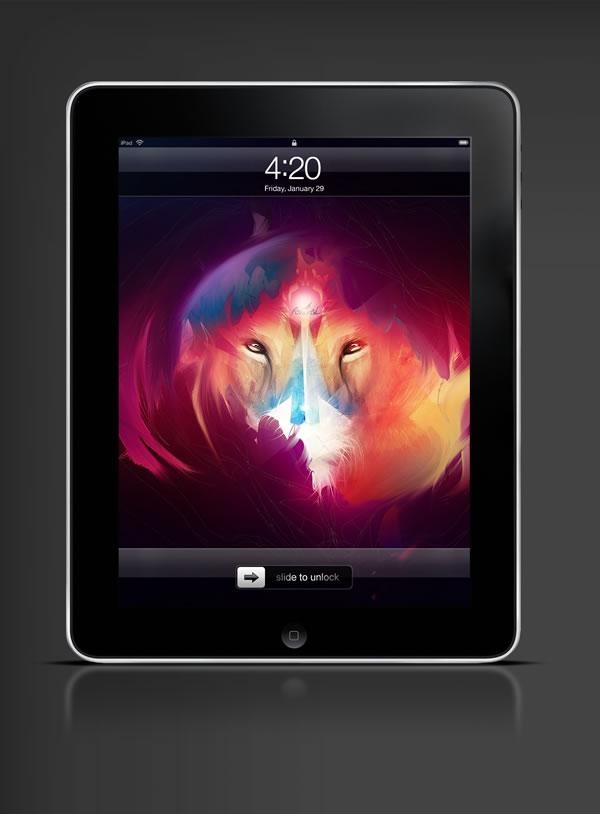 Abduzeedo's iPad wallpaper of the week by  ArtisNavi