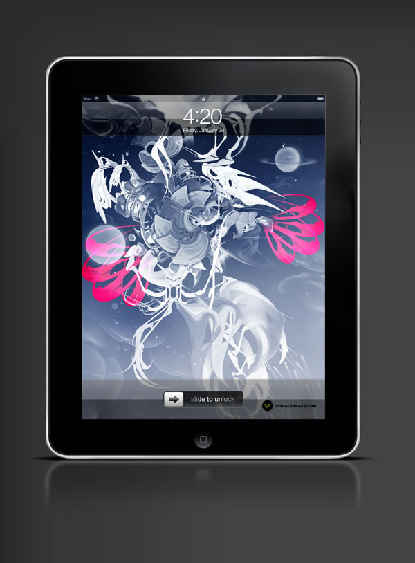 Abduzeedo's iPad wallpaper of the week by  Visual Freaks