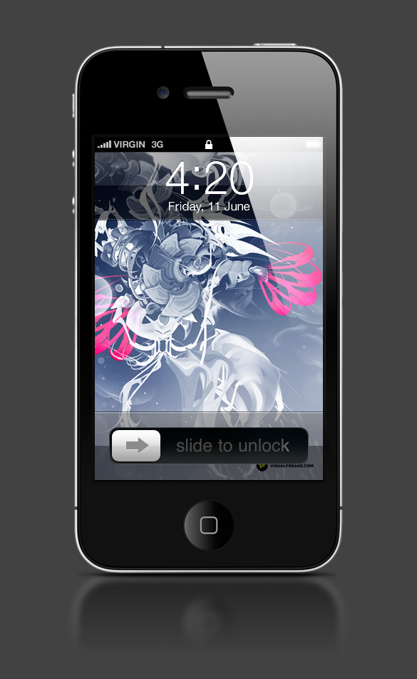 Abduzeedo's iPhone wallpaper of the week by Visual Freaks
