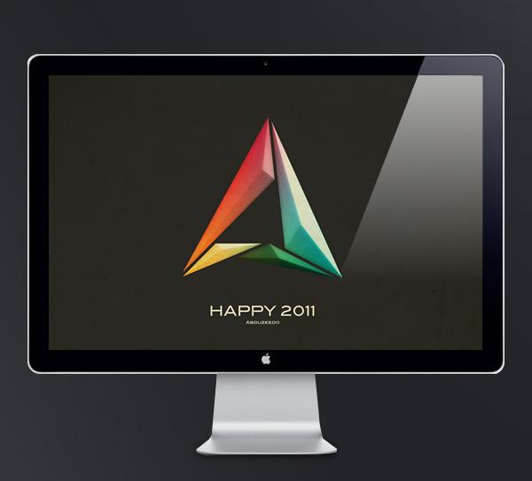 Abduzeedo's wallpaper of the week - Happy 2011