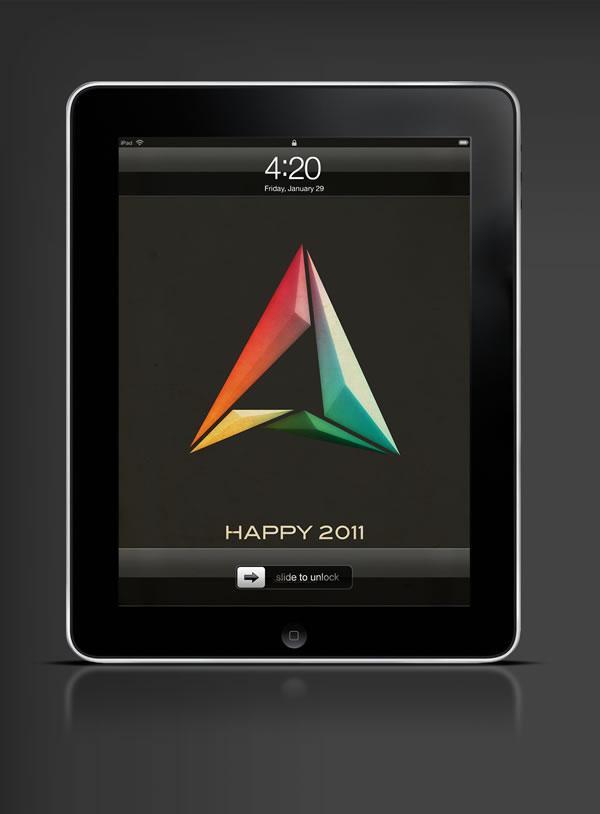 Abduzeedo's iPad wallpaper of the week - Happy 2011