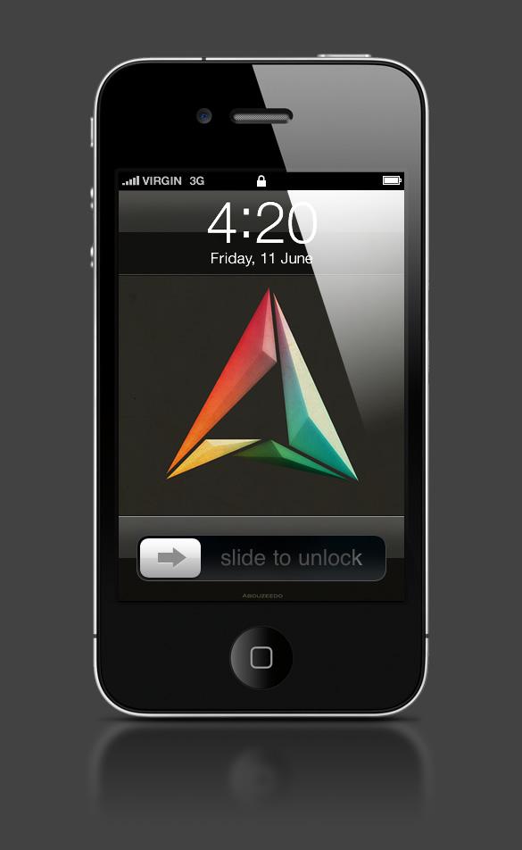 Abduzeedo's iPhone wallpaper of the week - Happy 2011