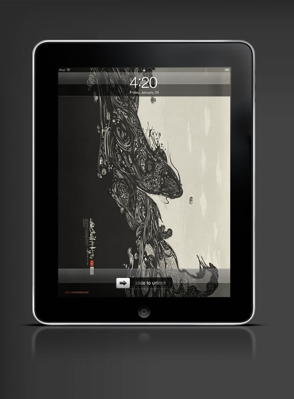 Abduzeedo's iPad wallpaper of the week by  Diego L. Rodríguez